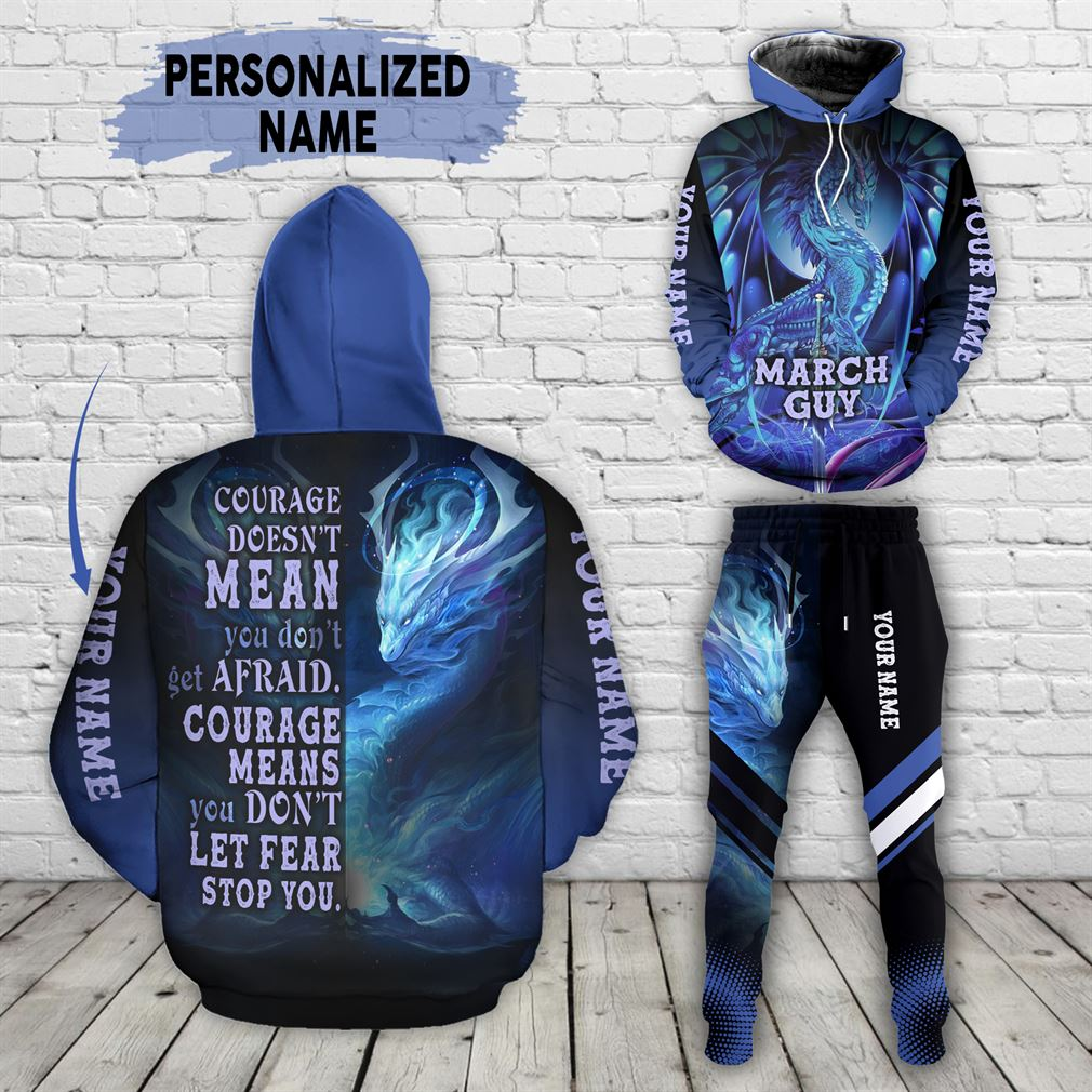 Personalized Name March Guy Combo 3d Clothes Hoodie Joggers Set V21