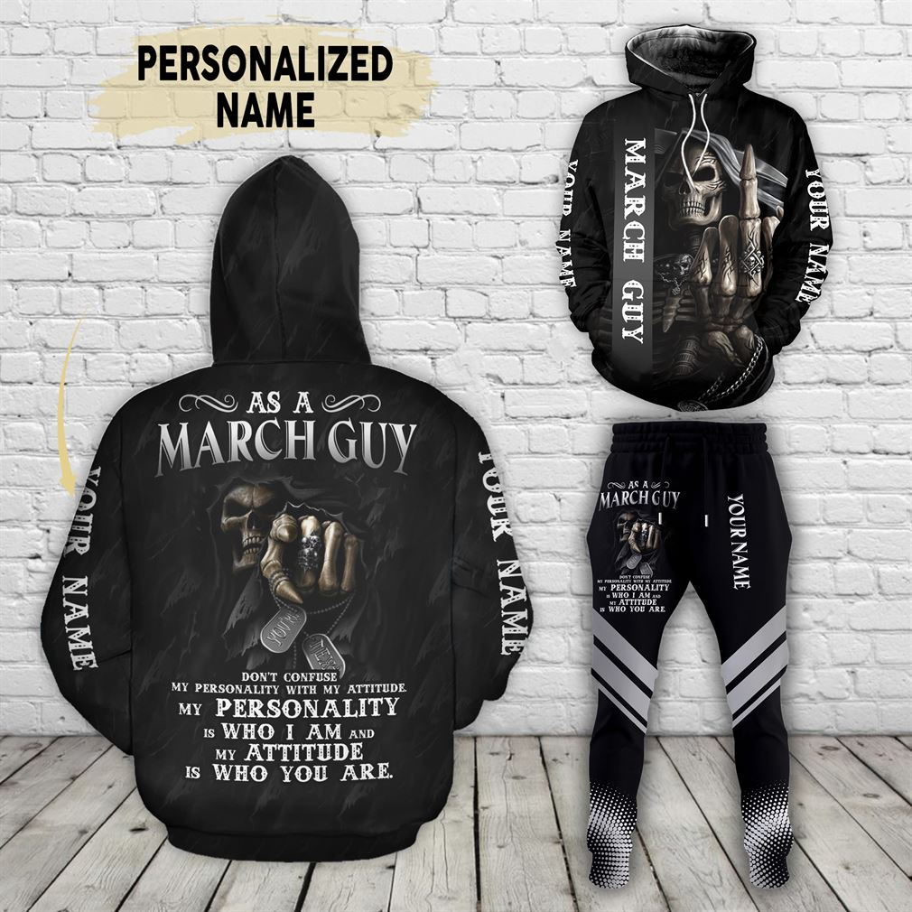 Personalized Name March Guy Combo 3d Clothes Hoodie Joggers Set V24