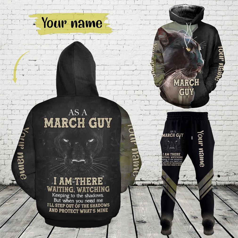 Personalized Name March Guy Combo 3d Clothes Hoodie Joggers Set V27