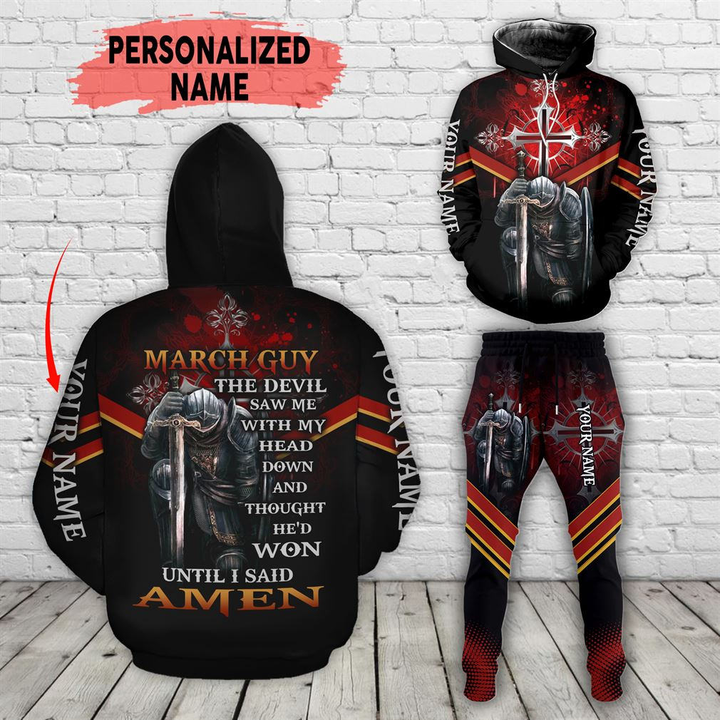 Personalized Name March Guy Combo 3d Clothes Hoodie Joggers Set V34