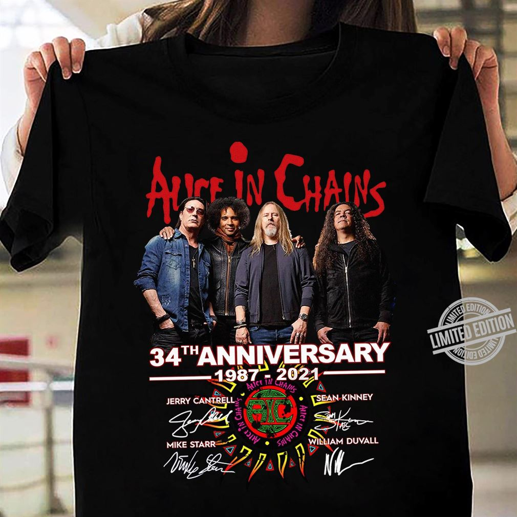 Alice In Chains 34th Anniversary 1987 2021 Tshirt
