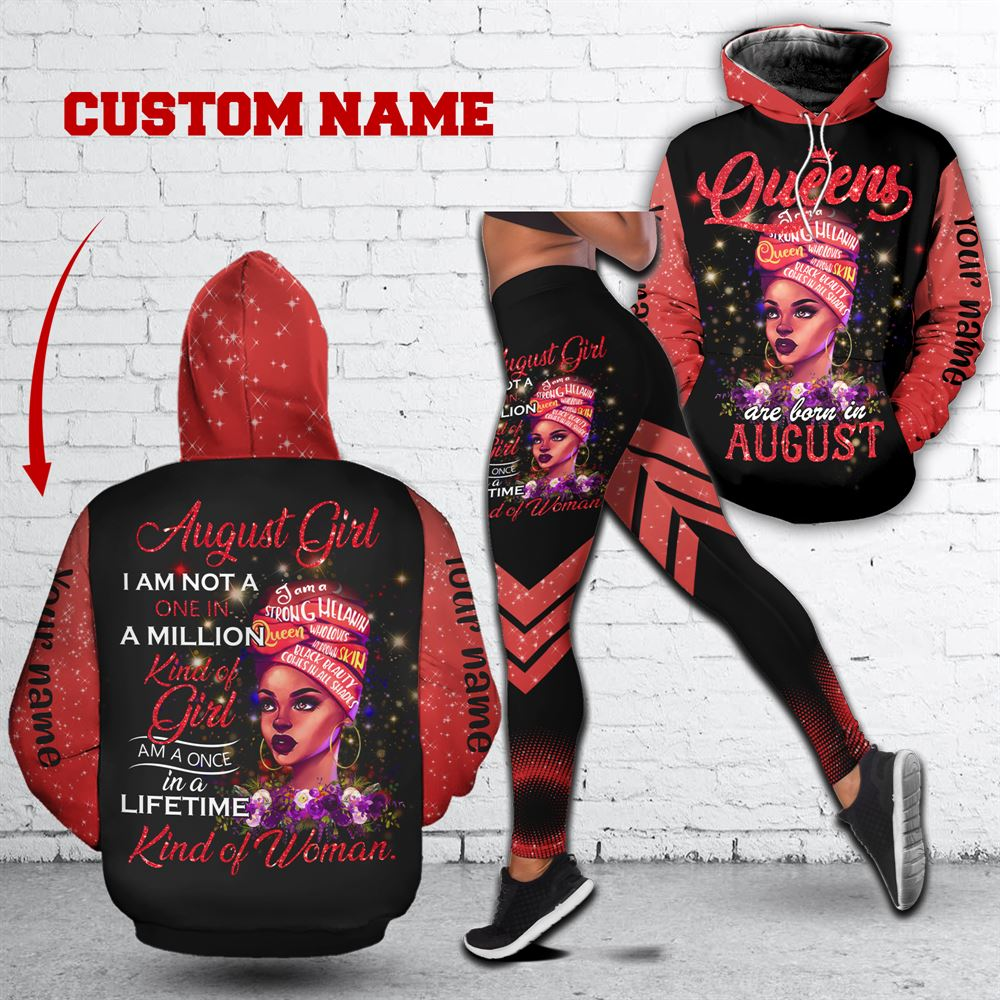 August Birthday Girl Combo August Outfit Personalized Hoodie Legging Set V018