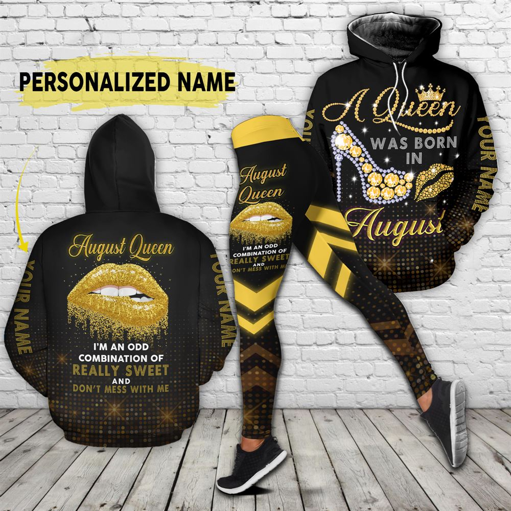August Birthday Girl Combo August Outfit Personalized Hoodie Legging Set V021