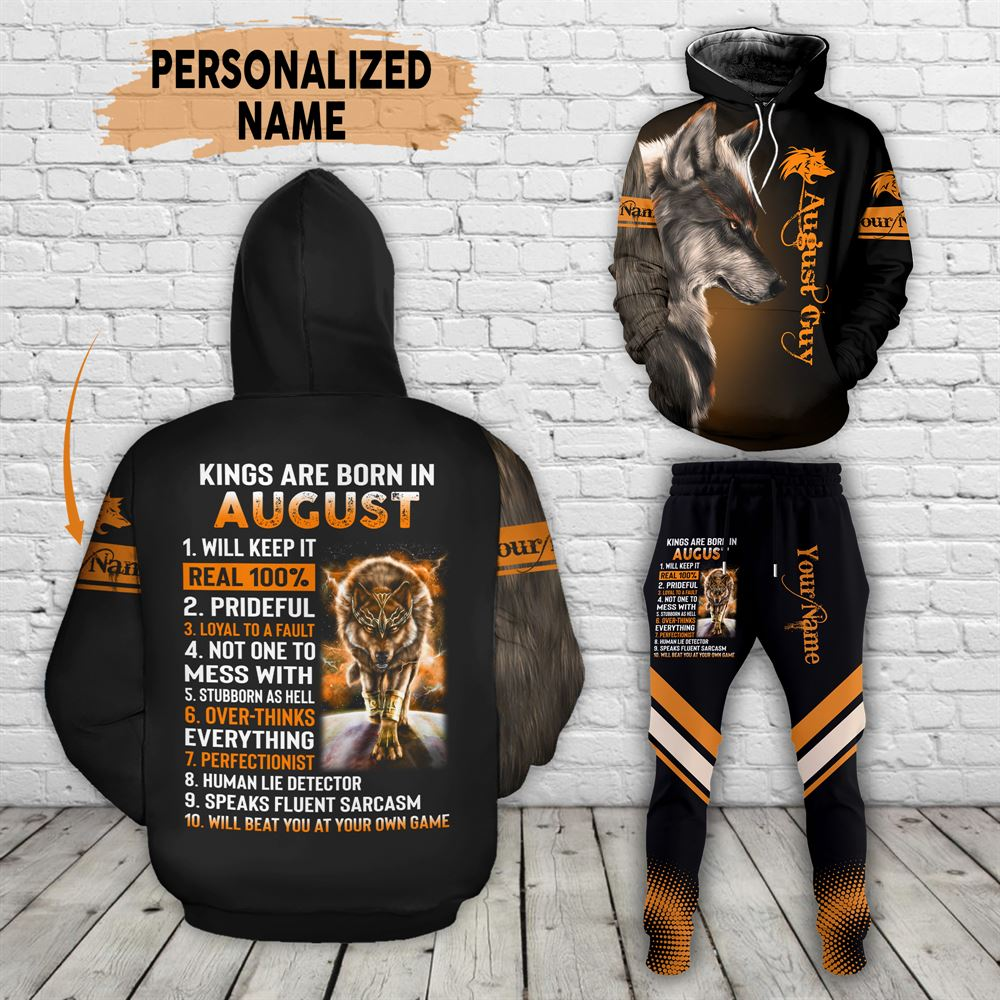August Birthday Guy Combo August 3d Clothes Personalized Hoodie Joggers Set V015