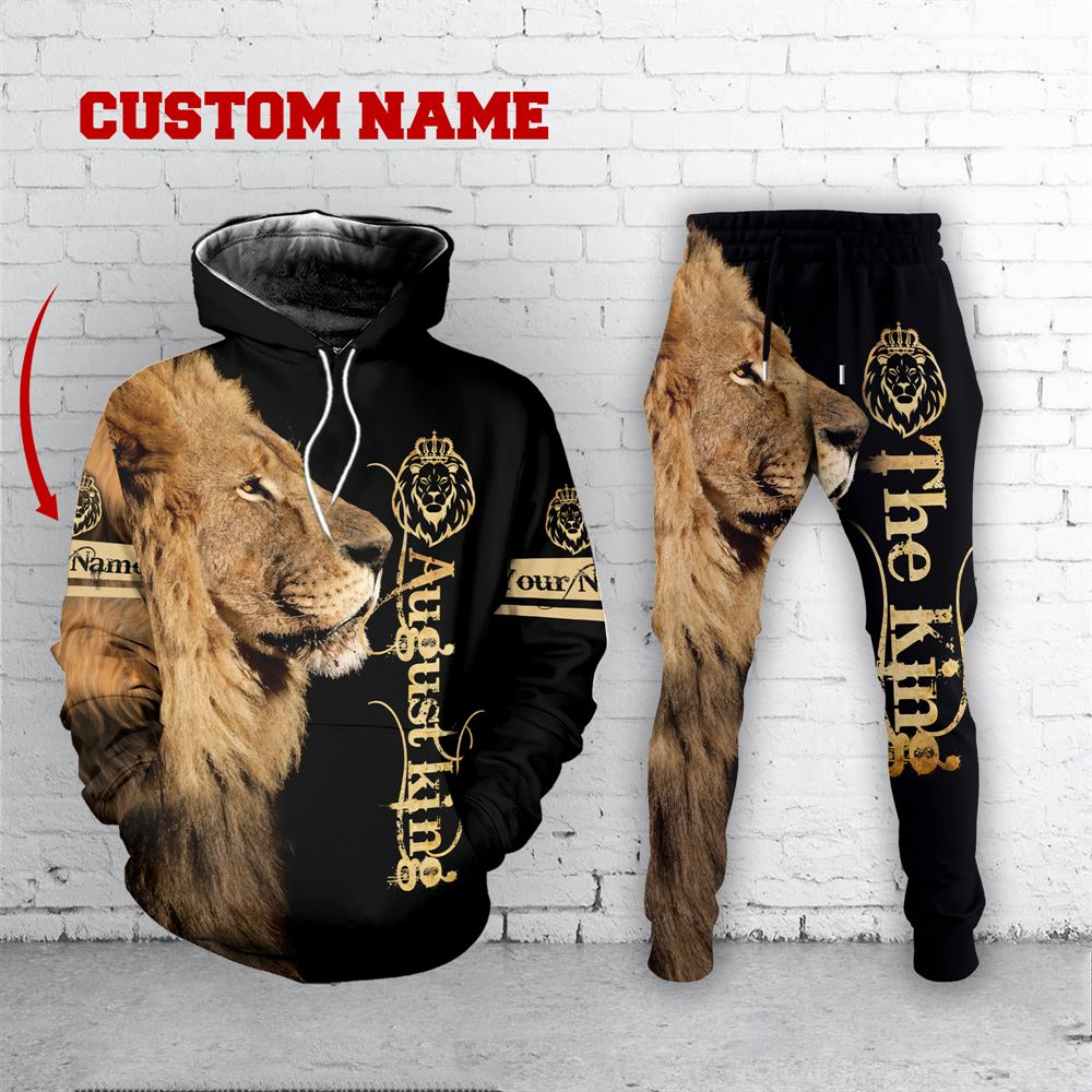 August Birthday Guy Combo August 3d Clothes Personalized Hoodie Joggers Set V025