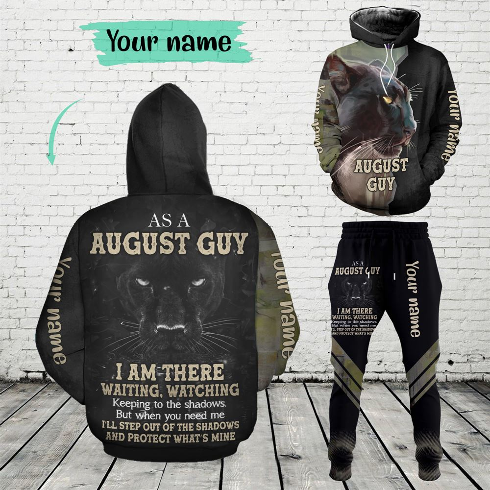 August Birthday Guy Combo August 3d Clothes Personalized Hoodie Joggers Set V05
