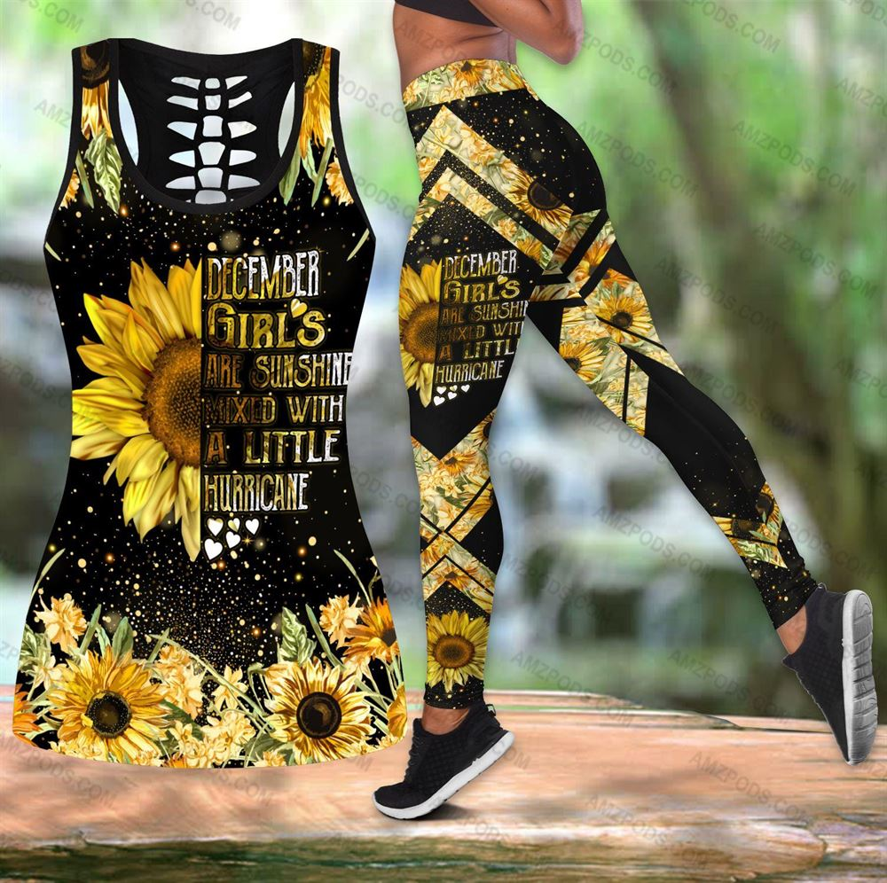 December Birthday Girl Combo December Outfit Hollow Tanktop Legging Personalized Set V0110