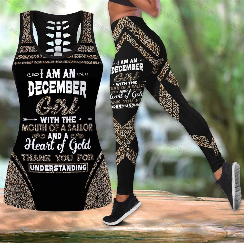 December Birthday Girl Combo December Outfit Hollow Tanktop Legging Personalized Set V023