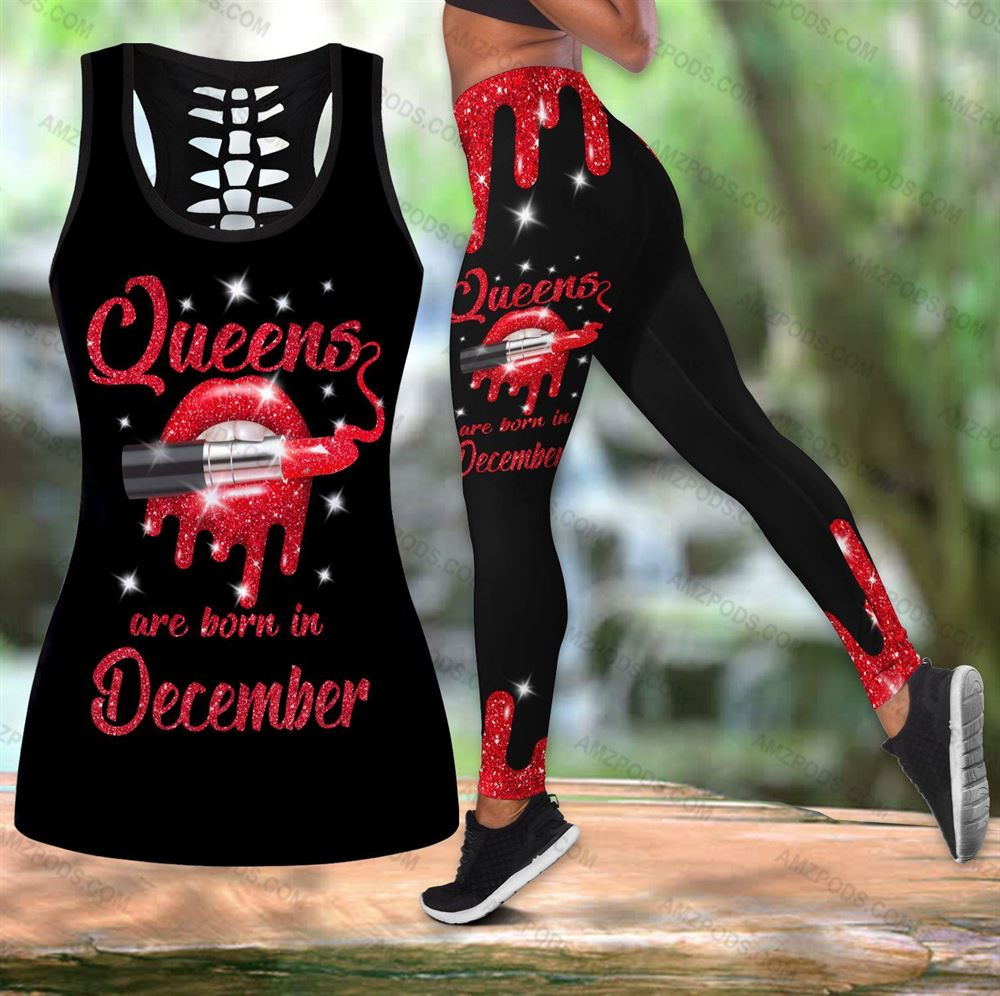 December Birthday Girl Combo December Outfit Hollow Tanktop Legging Personalized Set V030