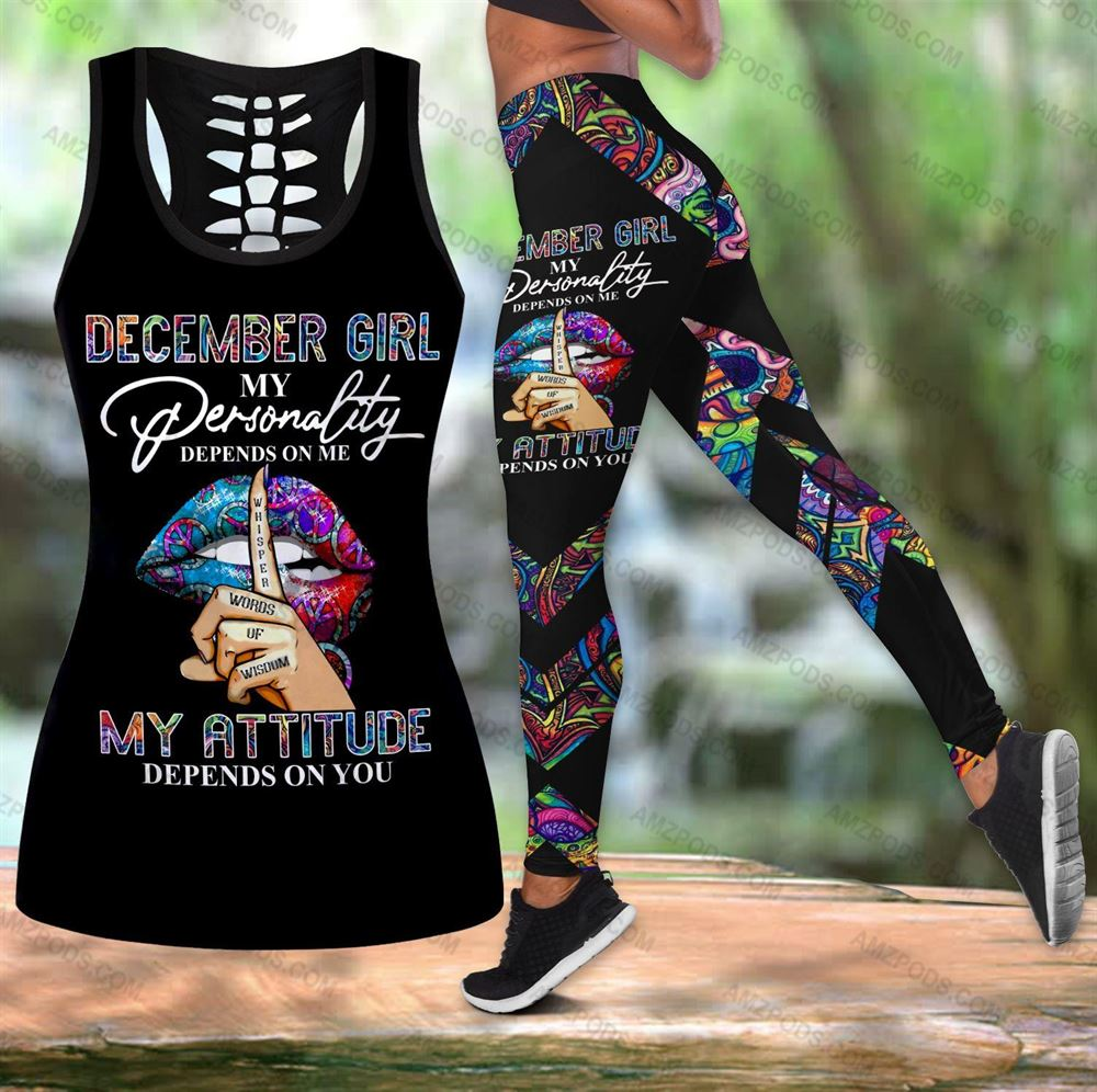December Birthday Girl Combo December Outfit Hollow Tanktop Legging Personalized Set V048