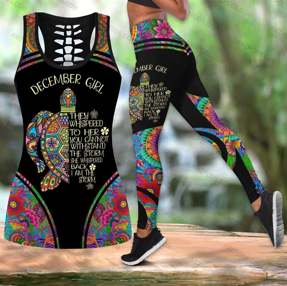 December Birthday Girl Combo December Outfit Hollow Tanktop Legging Personalized Set V054