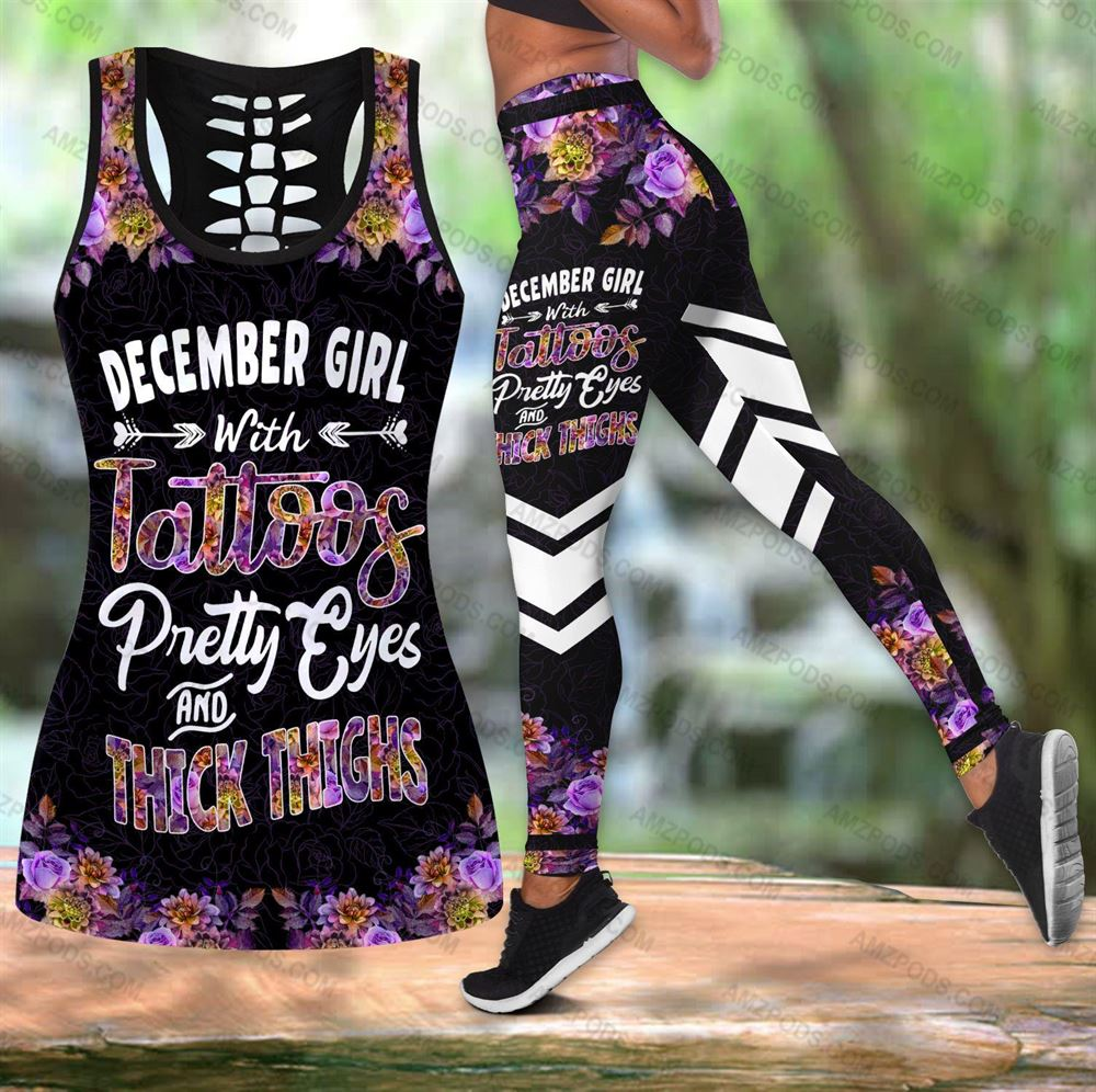 December Birthday Girl Combo December Outfit Hollow Tanktop Legging Personalized Set V060