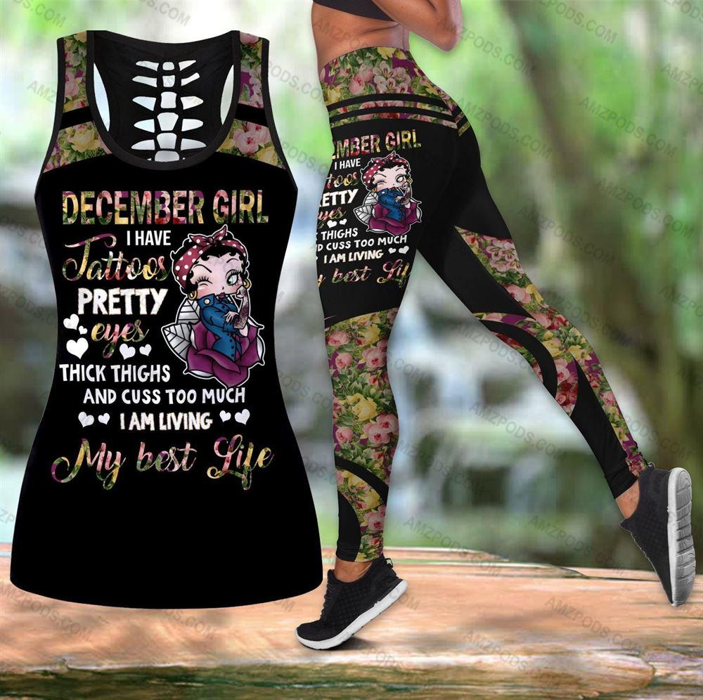 December Birthday Girl Combo December Outfit Hollow Tanktop Legging Personalized Set V099