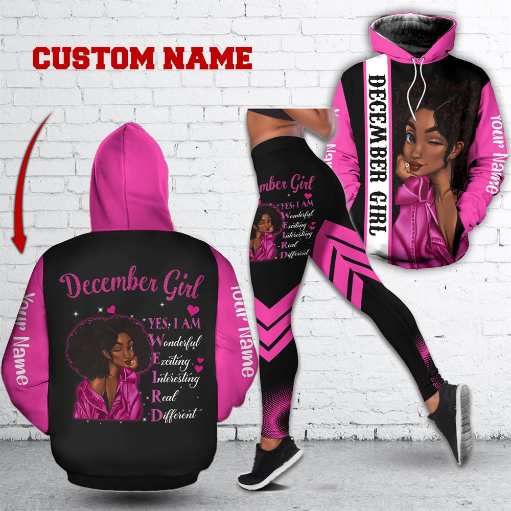 December Birthday Girl Combo December Outfit Personalized Hoodie Legging Set V013