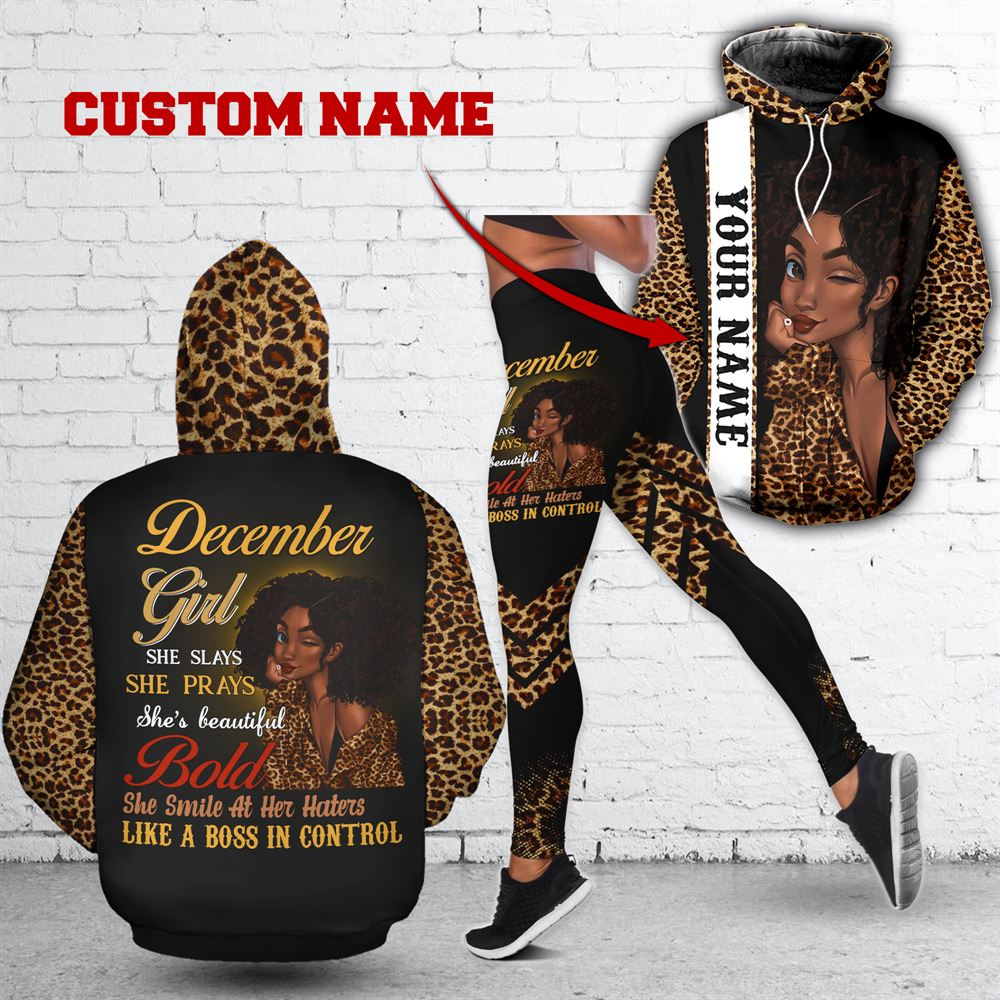 December Birthday Girl Combo December Outfit Personalized Hoodie Legging Set V014
