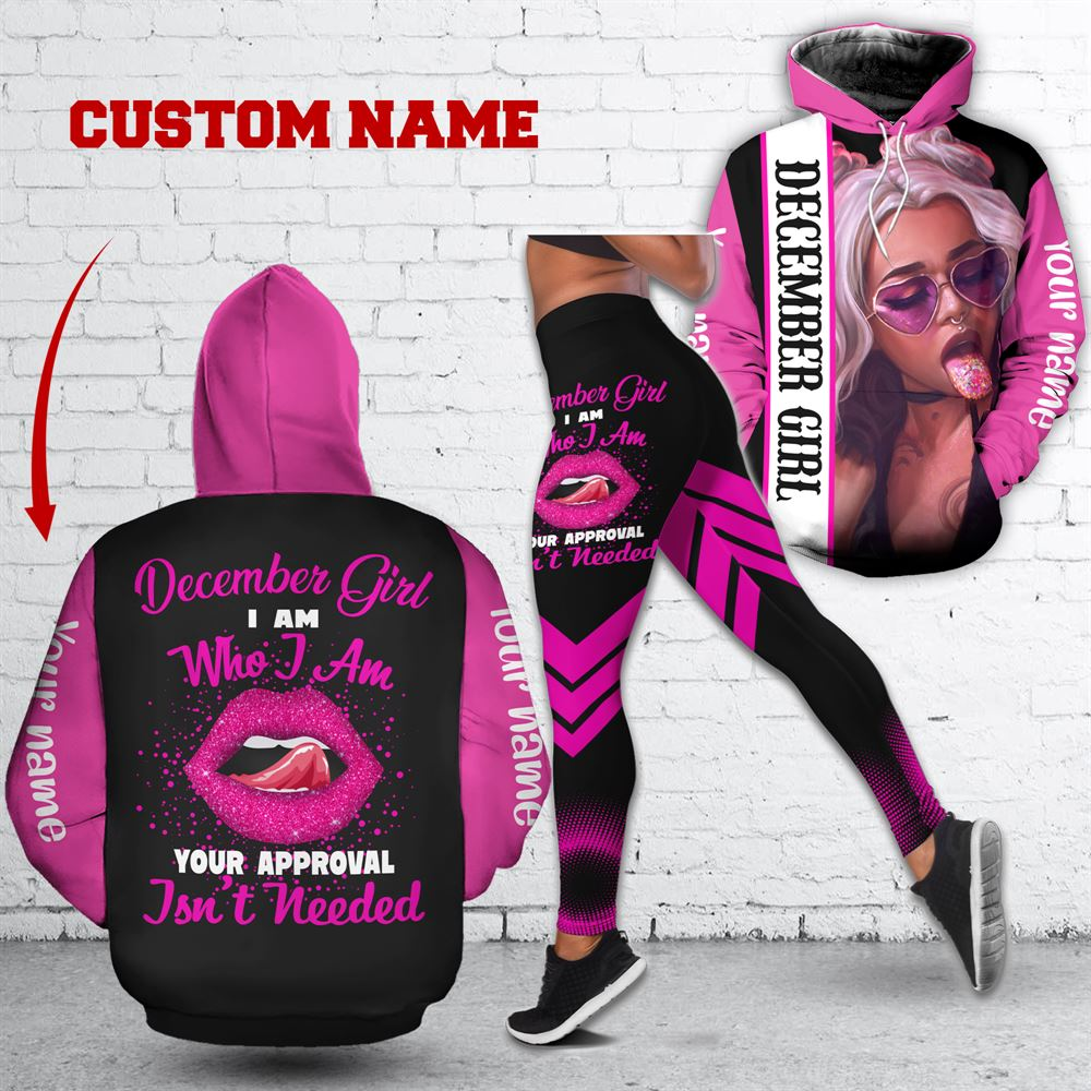 December Birthday Girl Combo December Outfit Personalized Hoodie Legging Set V016