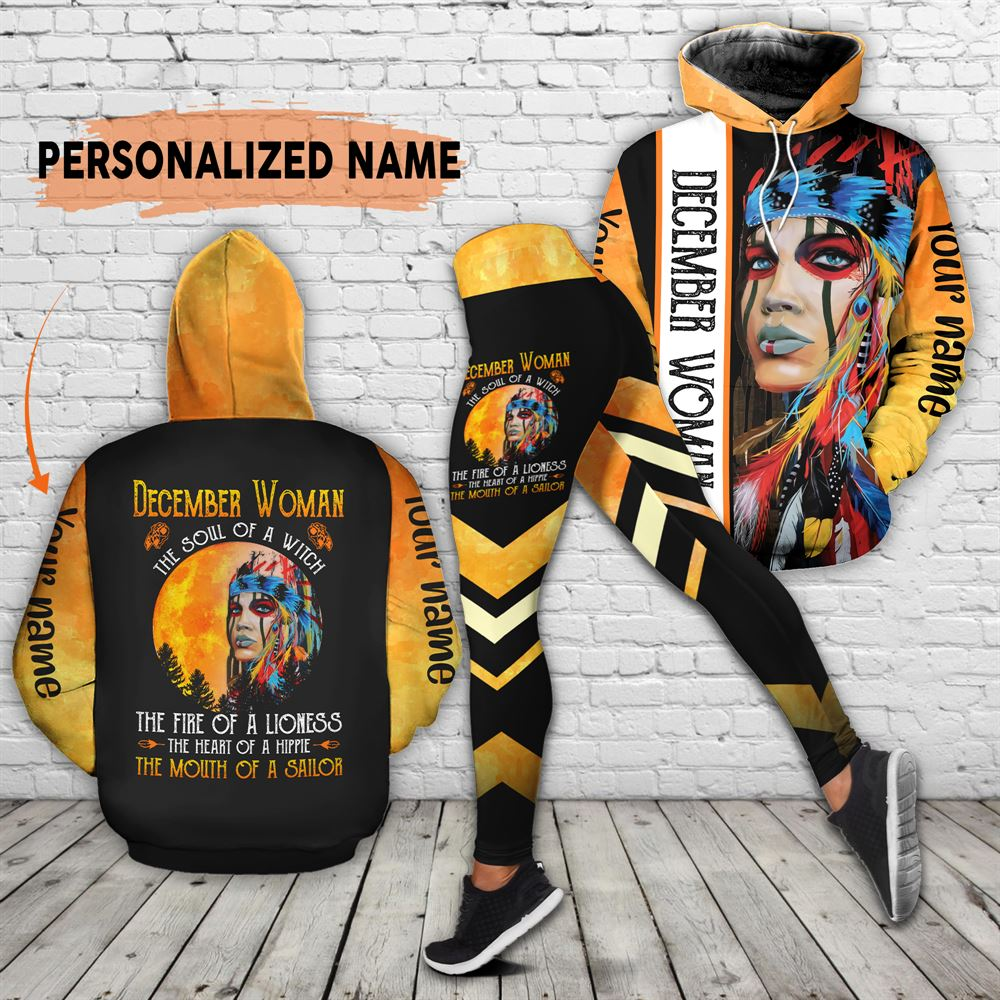 December Birthday Girl Combo December Outfit Personalized Hoodie Legging Set V020