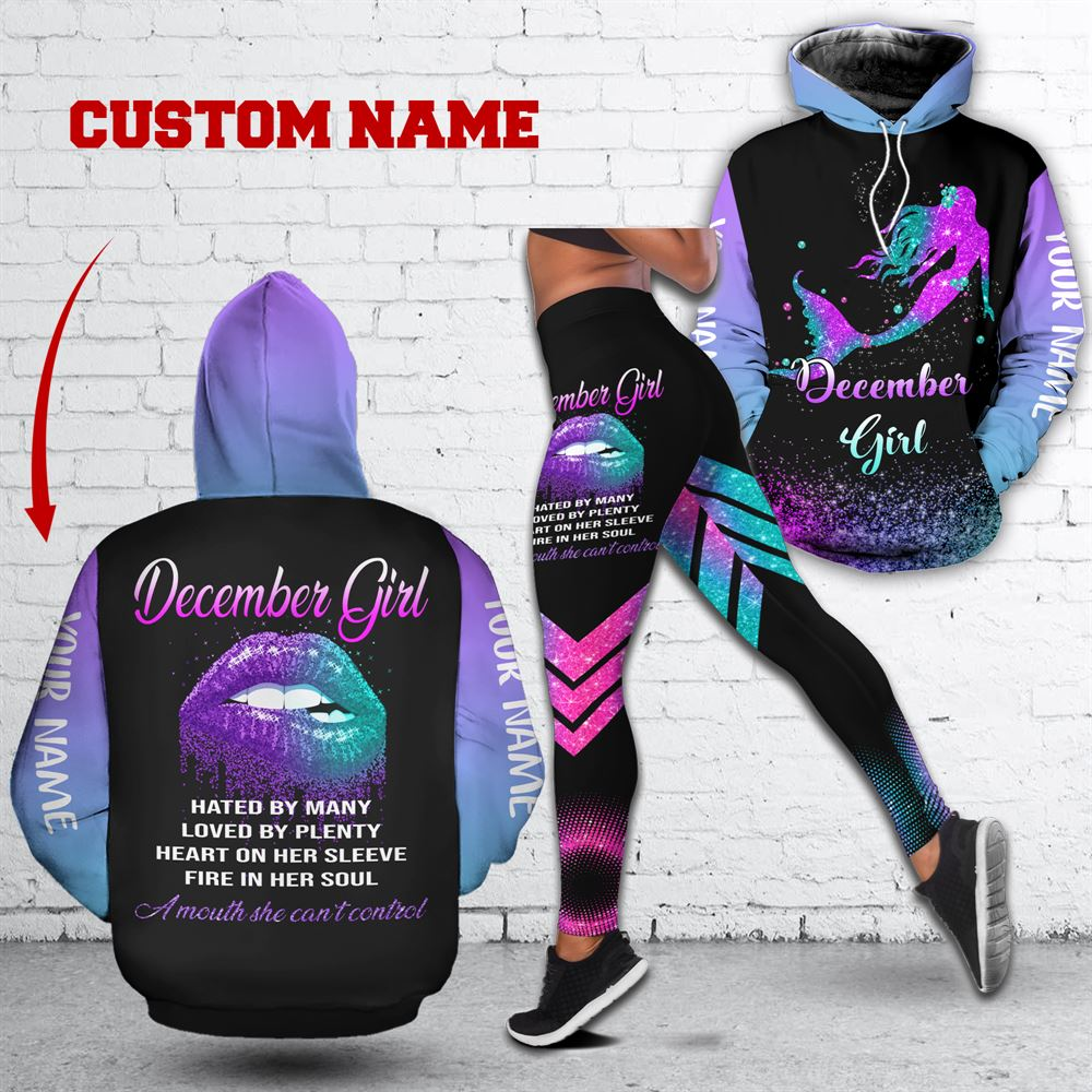 December Birthday Girl Combo December Outfit Personalized Hoodie Legging Set V021