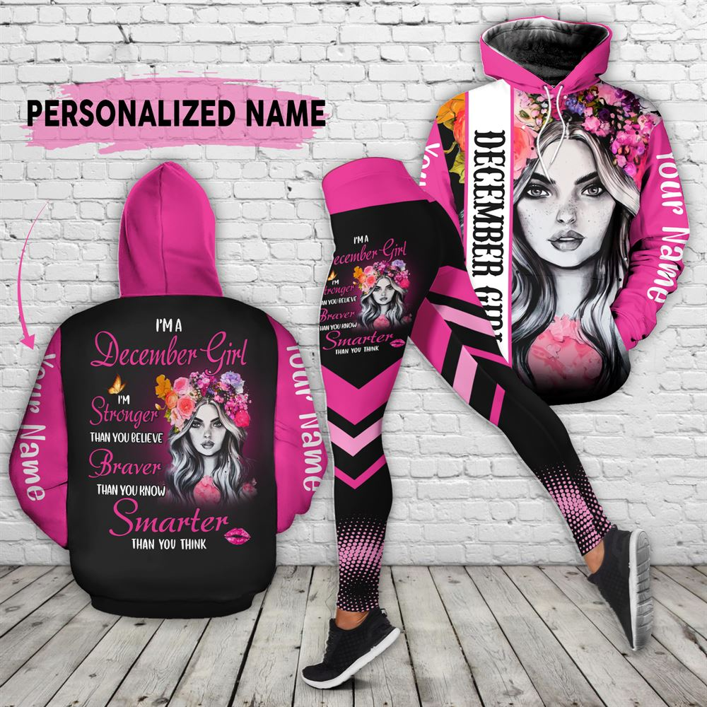 December Birthday Girl Combo December Outfit Personalized Hoodie Legging Set V022