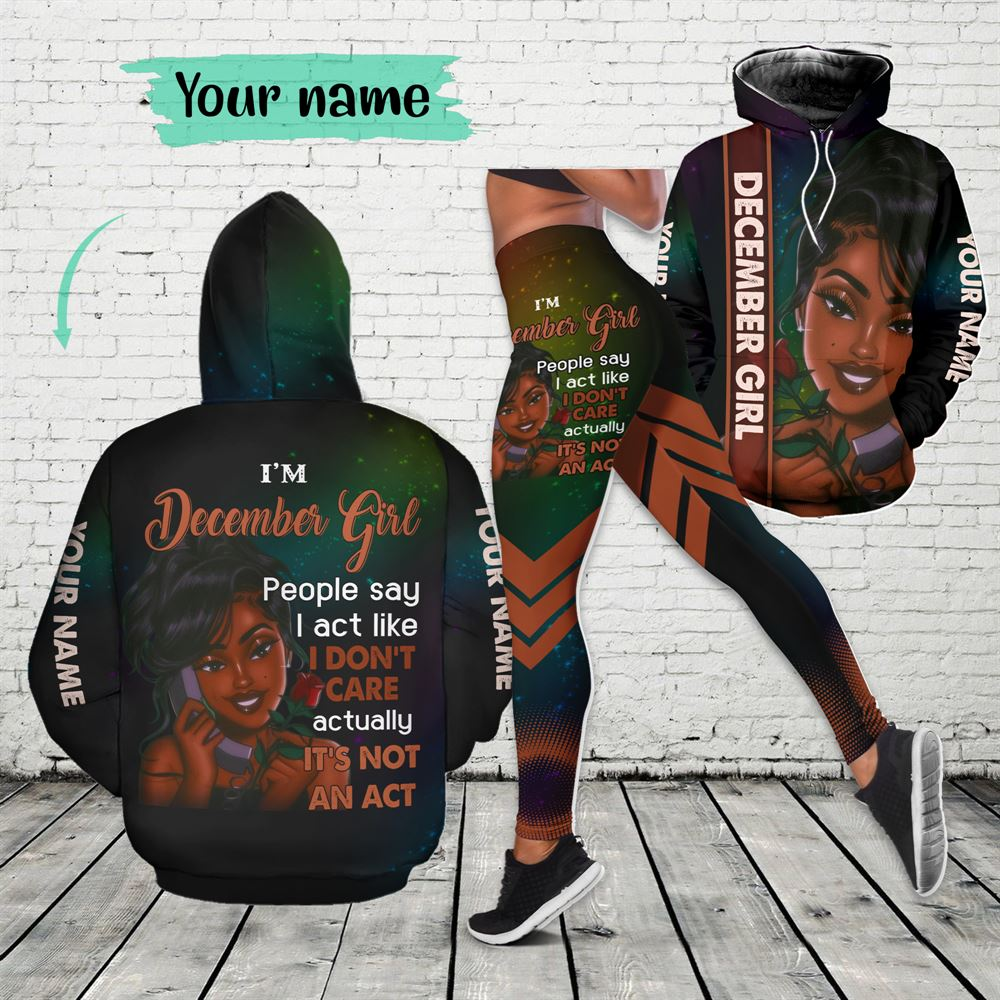 December Birthday Girl Combo December Outfit Personalized Hoodie Legging Set V03
