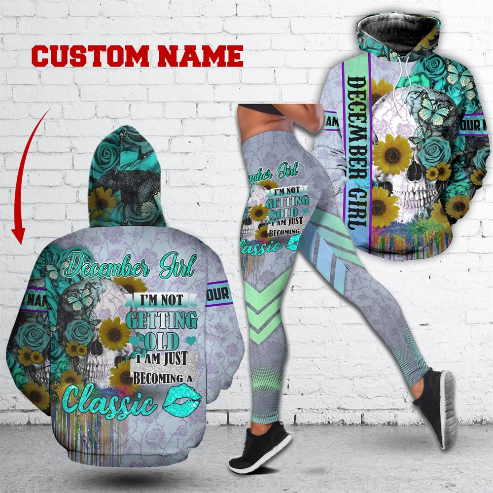 December Birthday Girl Combo December Outfit Personalized Hoodie Legging Set V034