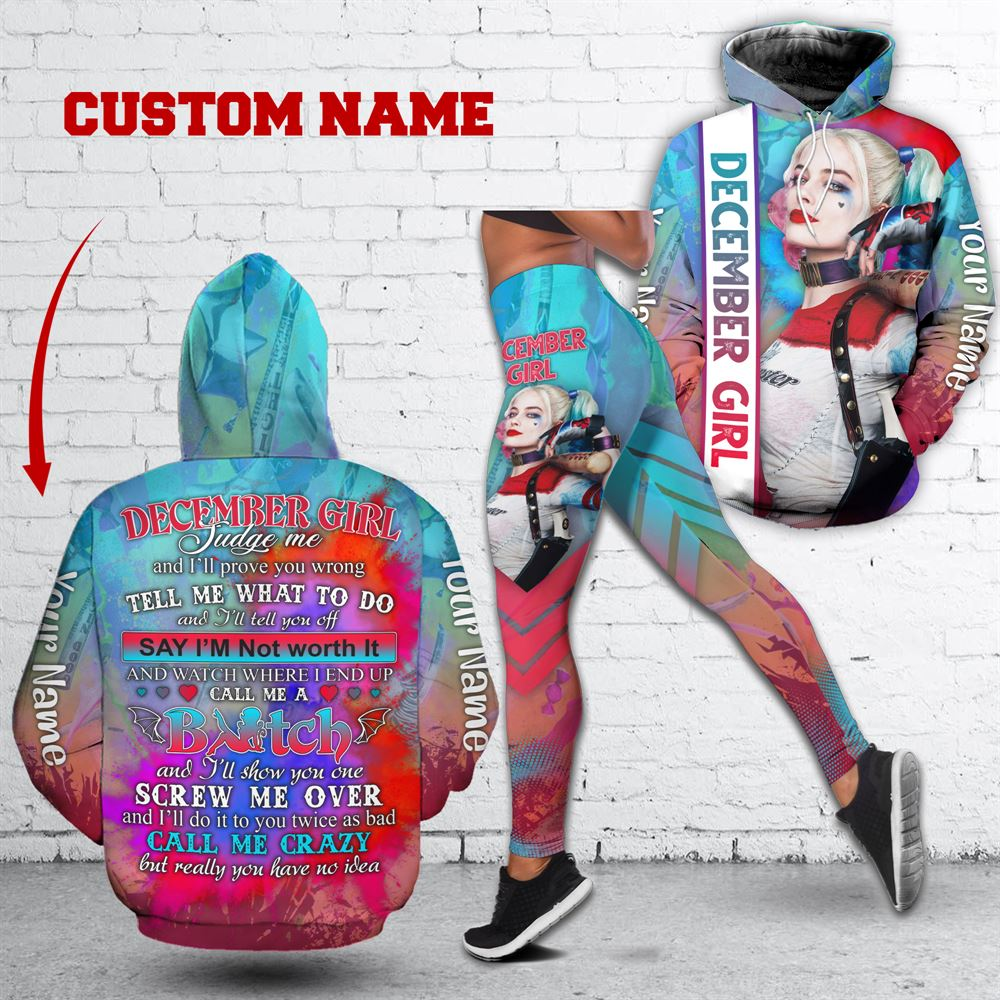 December Birthday Girl Combo December Outfit Personalized Hoodie Legging Set V035