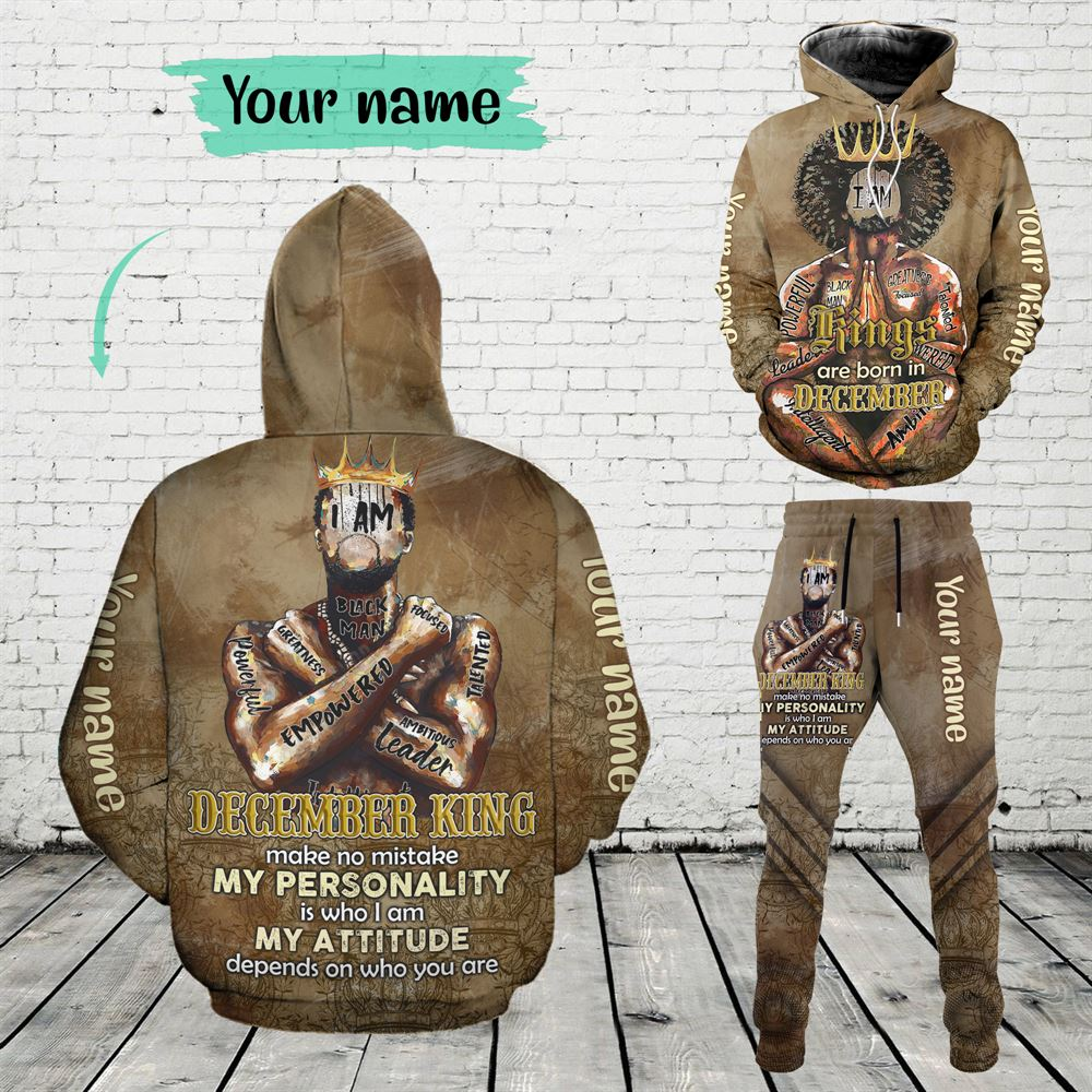 December Birthday Guy Combo December 3d Clothes Personalized Hoodie Joggers Set V017