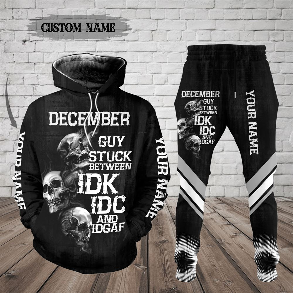 December Birthday Guy Combo December 3d Clothes Personalized Hoodie Joggers Set V023