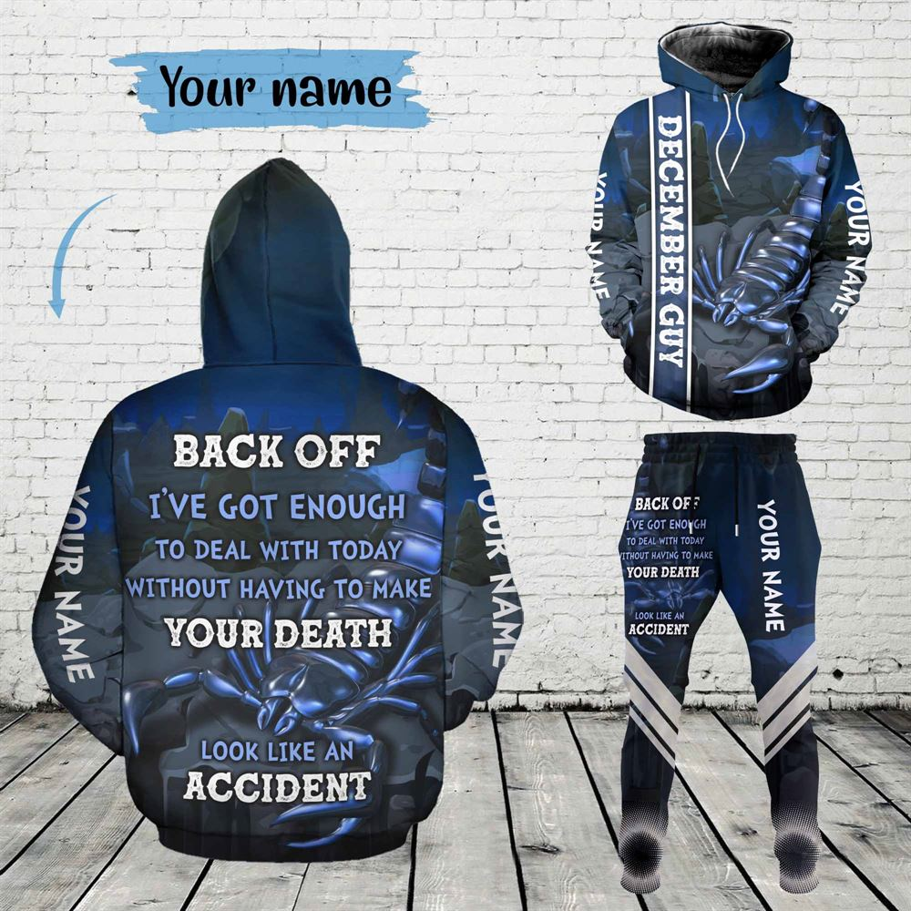 December Birthday Guy Combo December 3d Clothes Personalized Hoodie Joggers Set V05