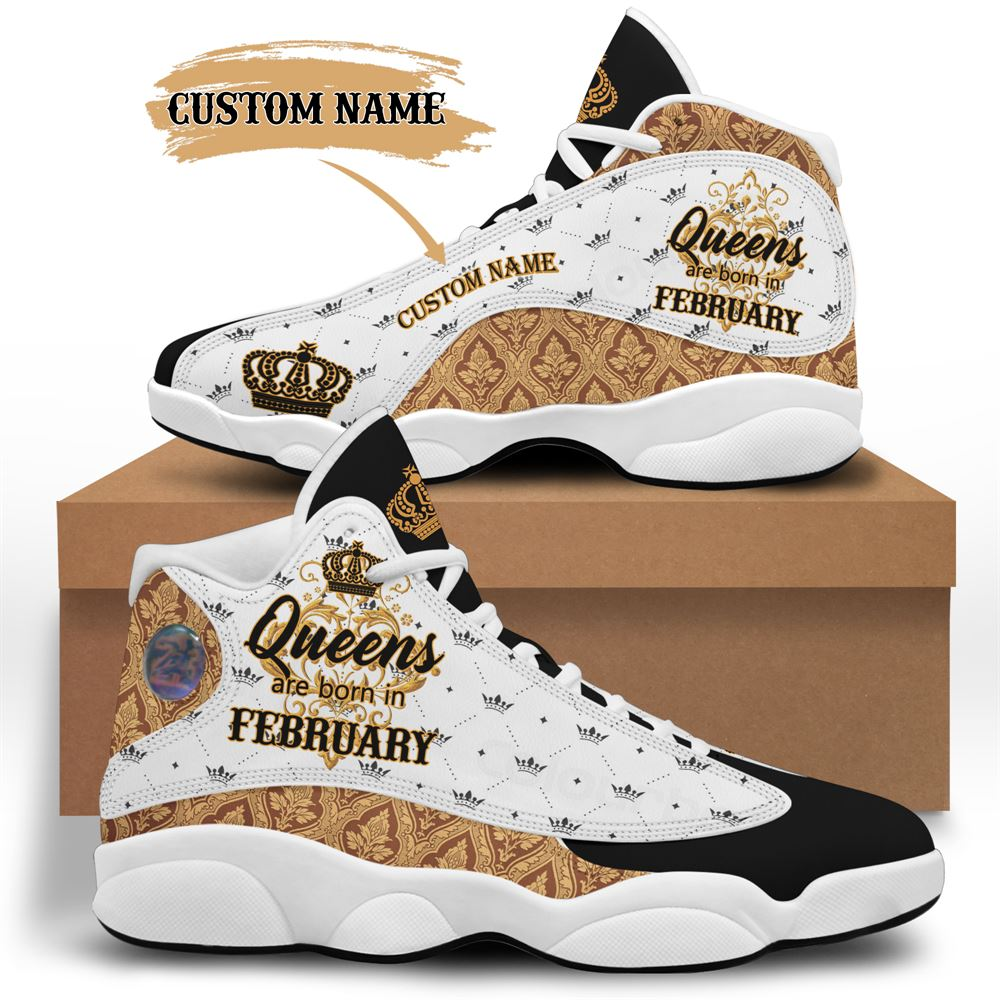 February Birthday Air Jordan 13 February Shoes Personalized Sneakers Sport V033