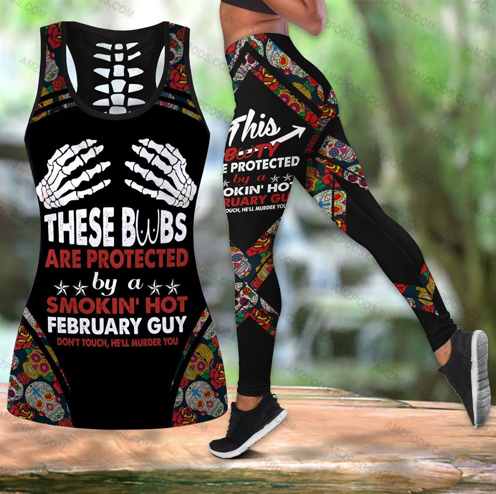February Birthday Girl Combo February Outfit Hollow Tanktop Legging Personalized Set V046