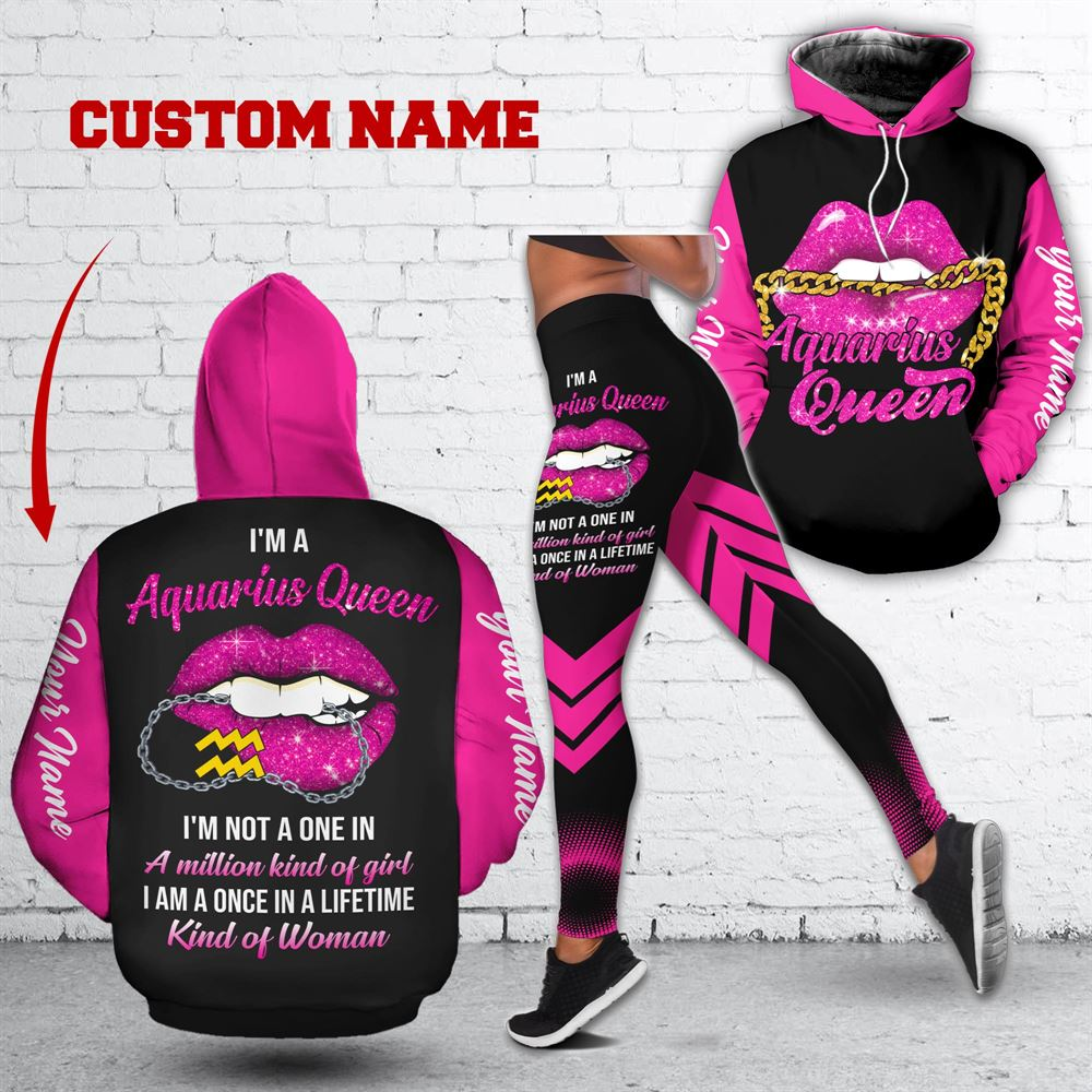 February Birthday Girl Combo February Outfit Personalized Hoodie Legging Set V011