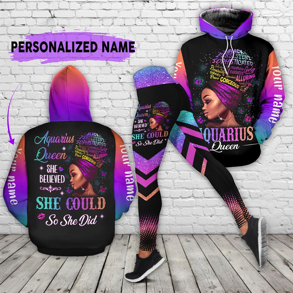 February Birthday Girl Combo February Outfit Personalized Hoodie Legging Set V013