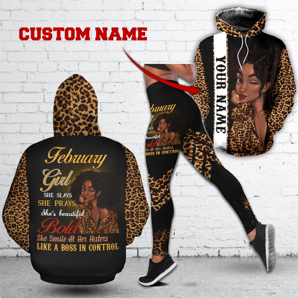 February Birthday Girl Combo February Outfit Personalized Hoodie Legging Set V017