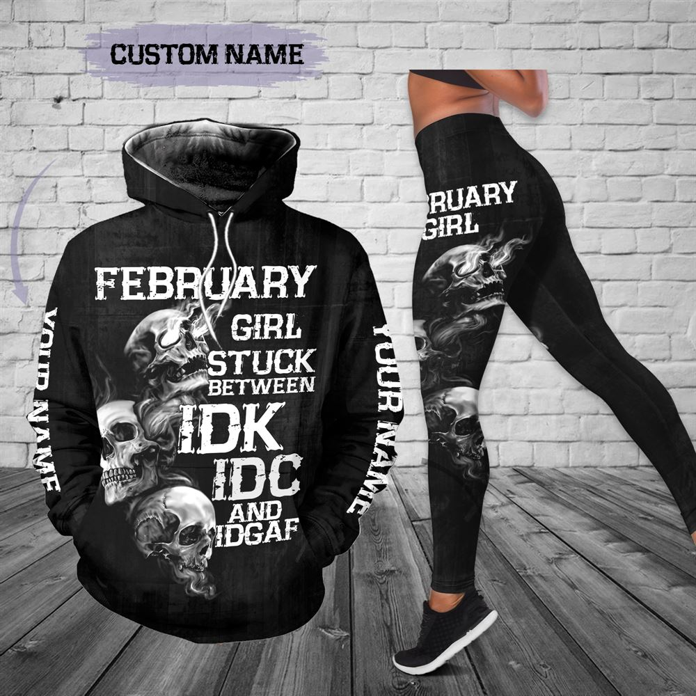 February Birthday Girl Combo February Outfit Personalized Hoodie Legging Set V021