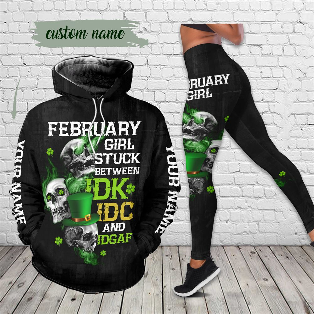 February Birthday Girl Combo February Outfit Personalized Hoodie Legging Set V022