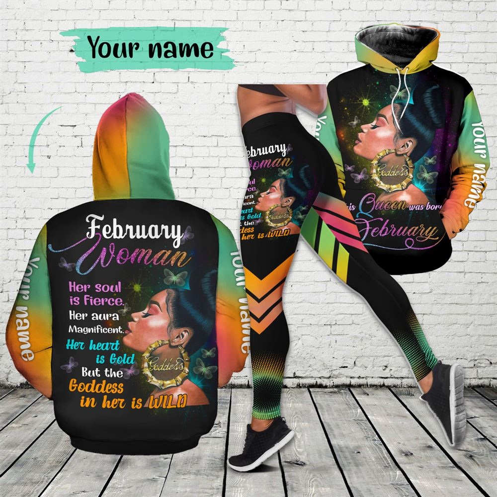 February Birthday Girl Combo February Outfit Personalized Hoodie Legging Set V04