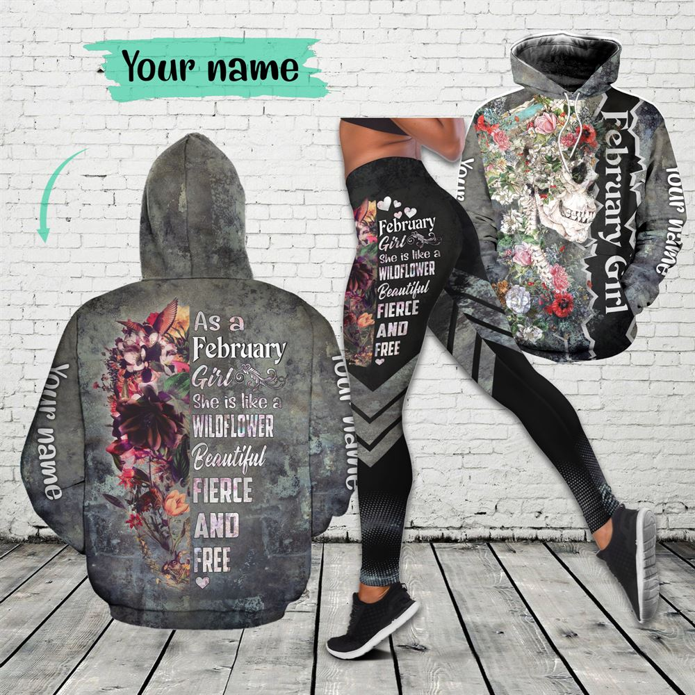 February Birthday Girl Combo February Outfit Personalized Hoodie Legging Set V07