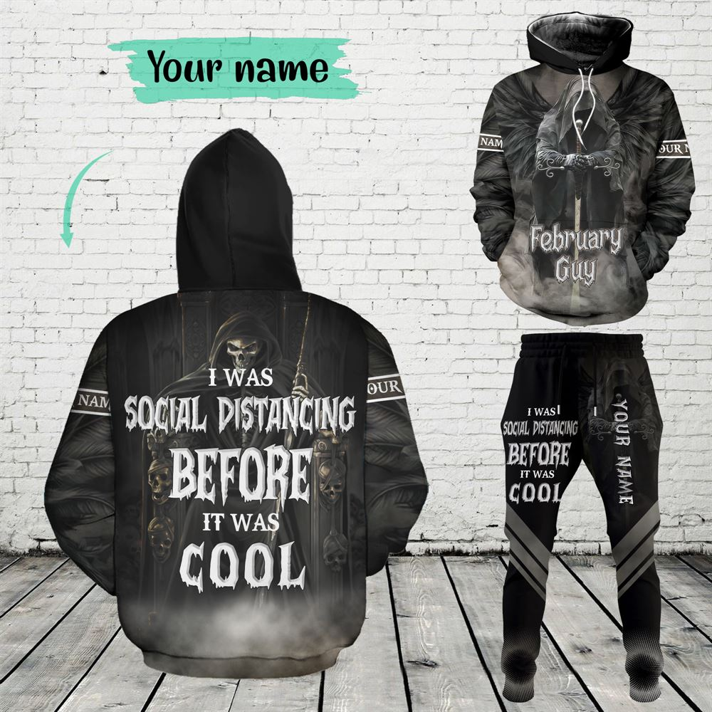 February Birthday Guy Combo February 3d Clothes Personalized Hoodie Joggers Set V01