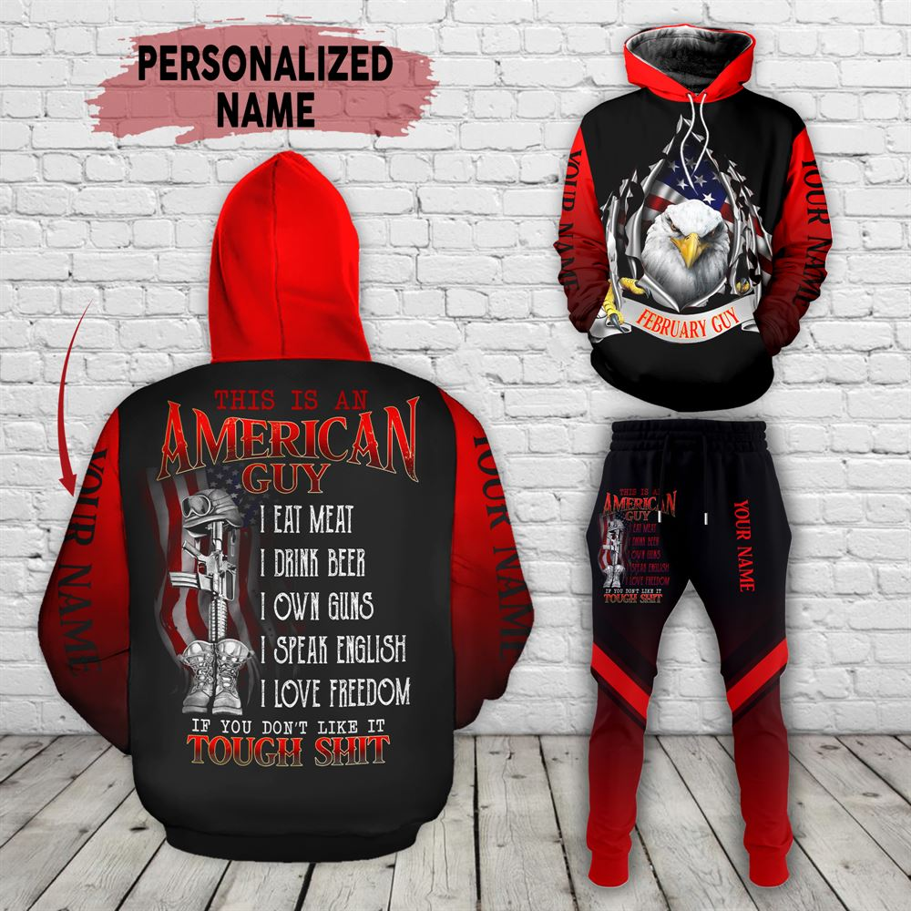 February Birthday Guy Combo February 3d Clothes Personalized Hoodie Joggers Set V010
