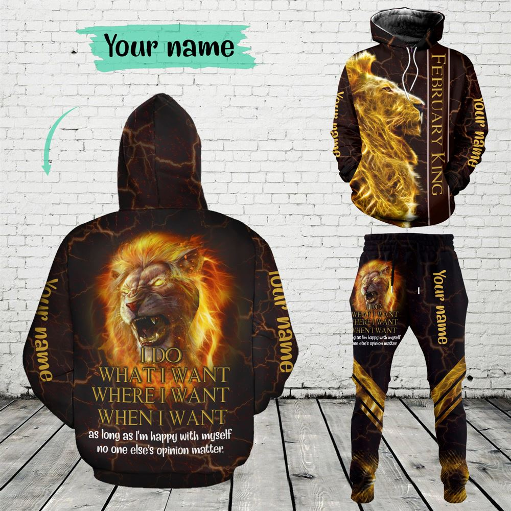 February Birthday Guy Combo February 3d Clothes Personalized Hoodie Joggers Set V019