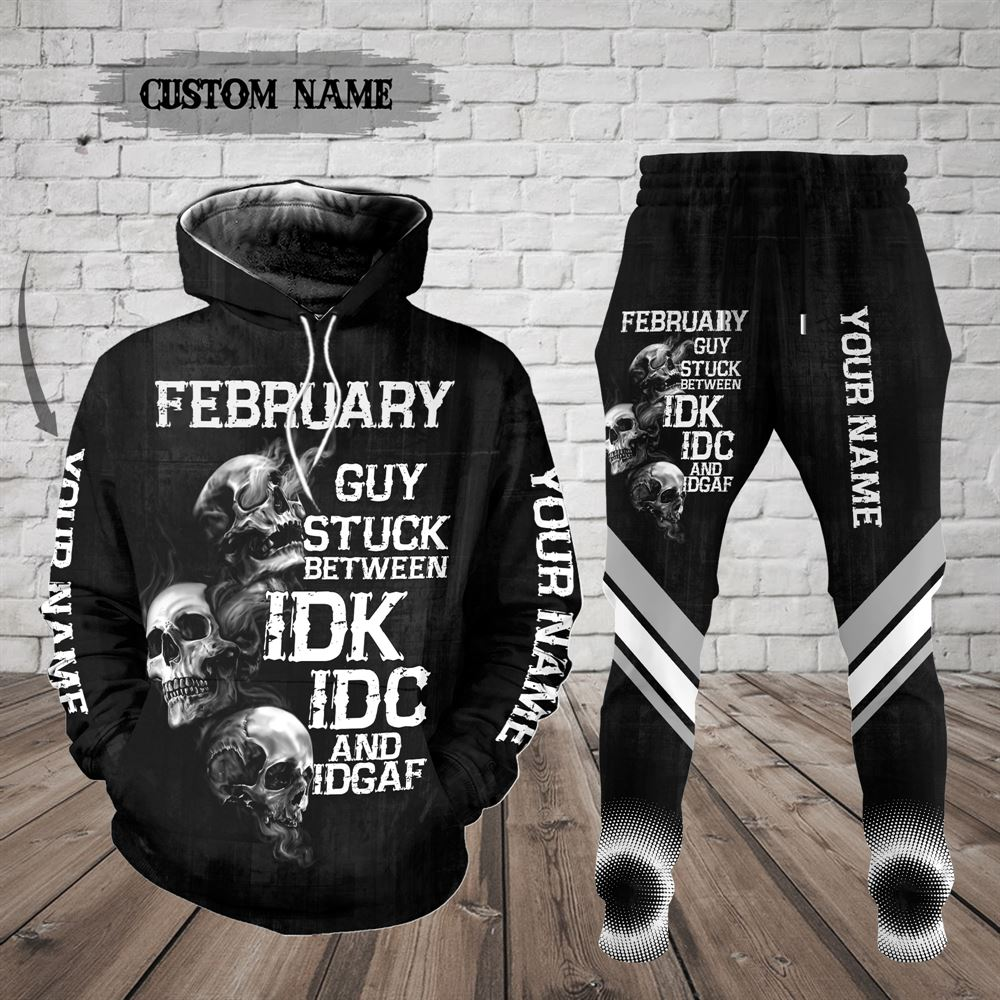 February Birthday Guy Combo February 3d Clothes Personalized Hoodie Joggers Set V026