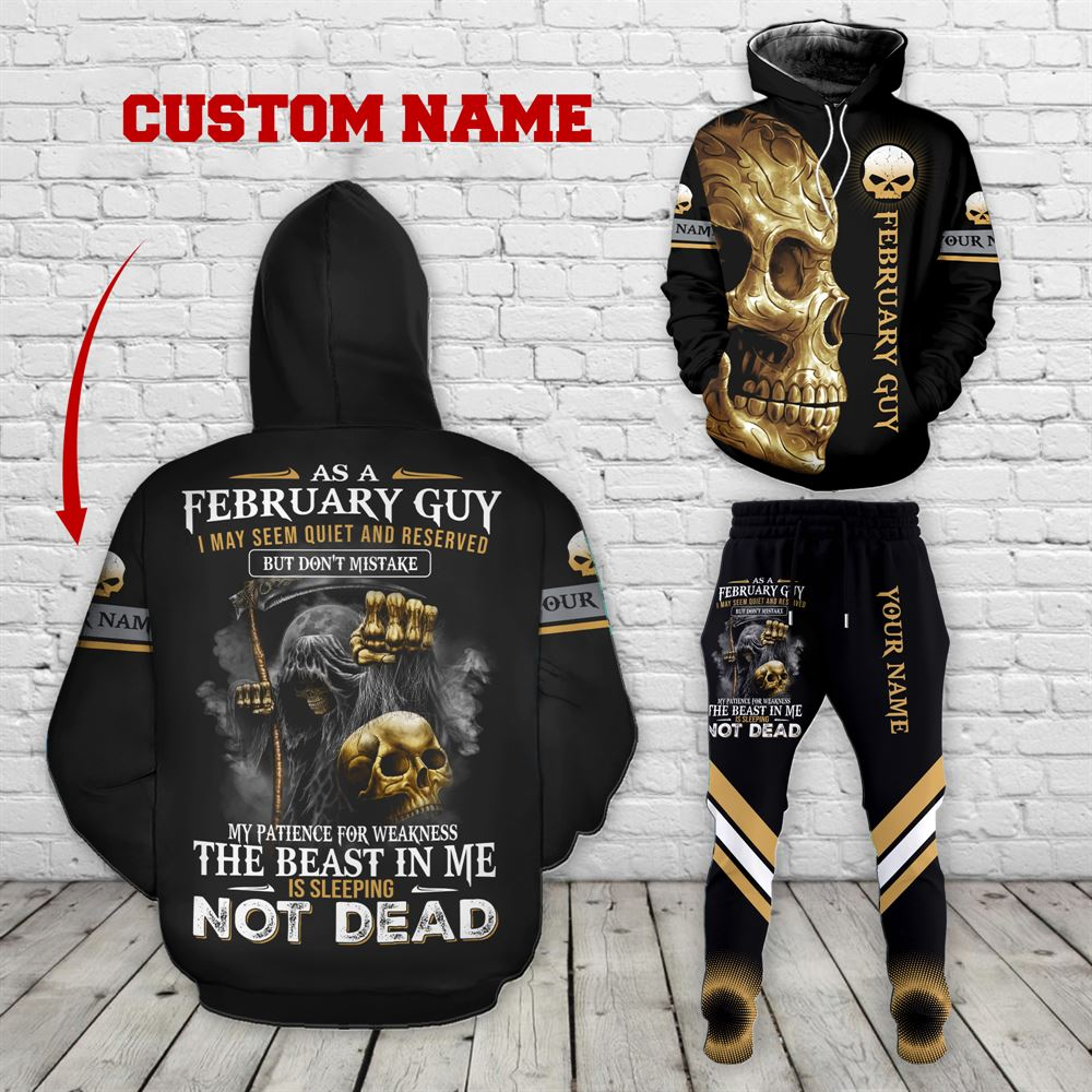 February Birthday Guy Combo February 3d Clothes Personalized Hoodie Joggers Set V032