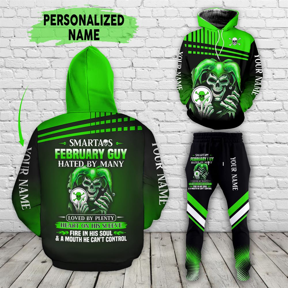 February Birthday Guy Combo February 3d Clothes Personalized Hoodie Joggers Set V035