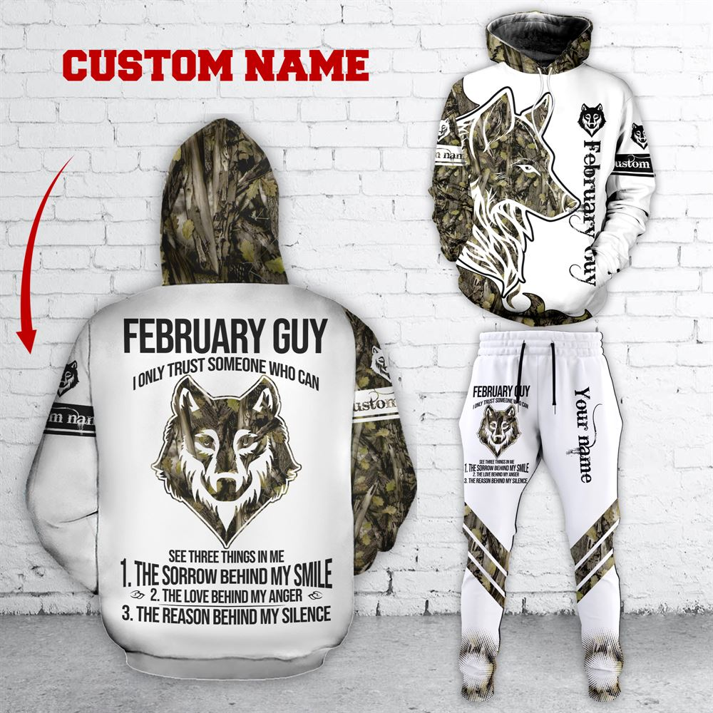 February Birthday Guy Combo February 3d Clothes Personalized Hoodie Joggers Set V036