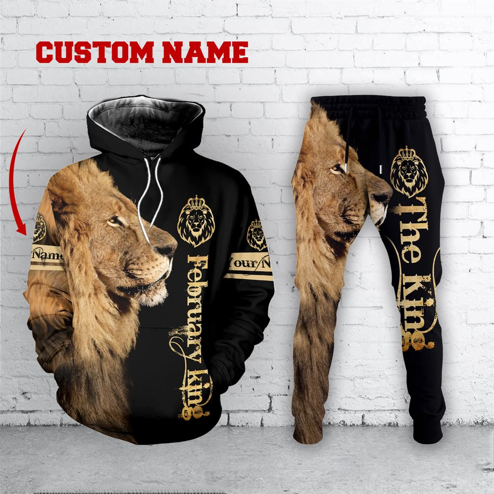 February Birthday Guy Combo February 3d Clothes Personalized Hoodie Joggers Set V037