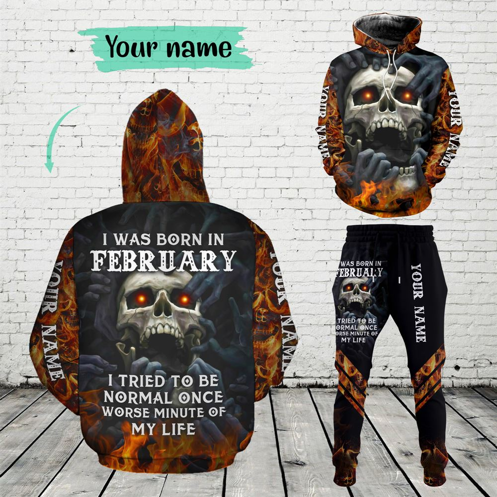 February Birthday Guy Combo February 3d Clothes Personalized Hoodie Joggers Set V08