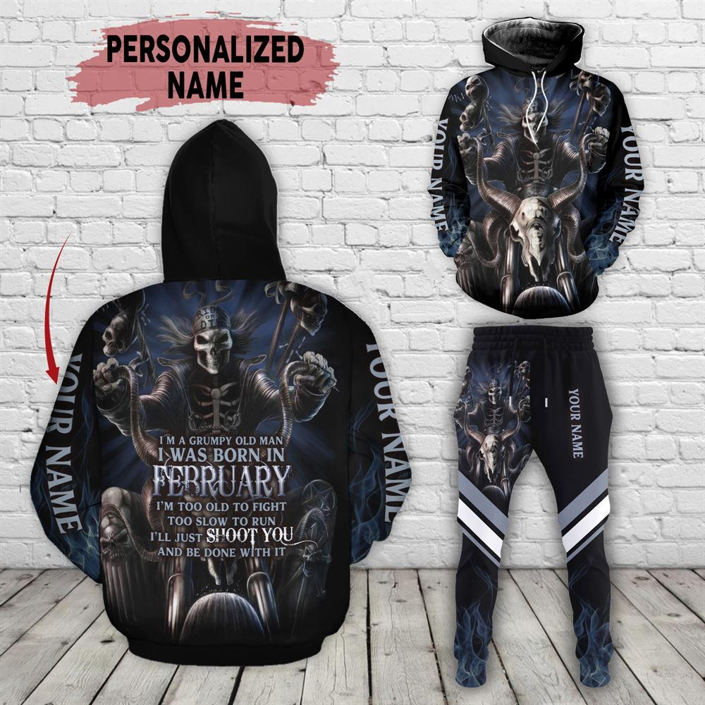 February Birthday Guy Combo February 3d Clothes Personalized Hoodie Joggers Set V09