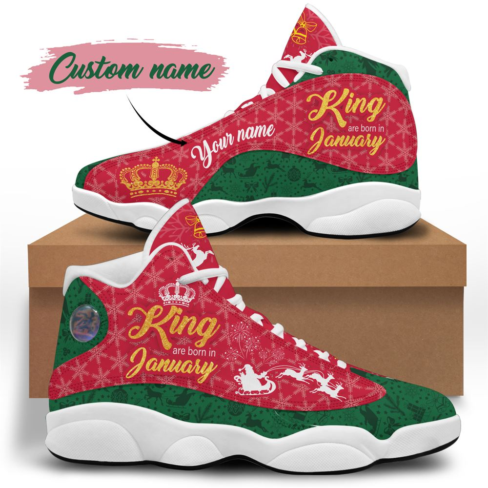January Birthday Air Jordan 13 January Shoes Personalized Sneakers Sport V027