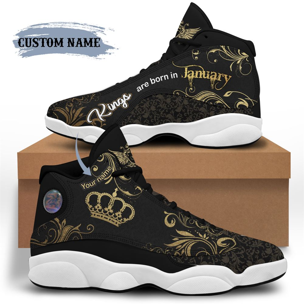 January Birthday Air Jordan 13 January Shoes Personalized Sneakers Sport V032